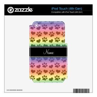 Corazones del arco iris e impresiones conocidos iPod touch 4G skins