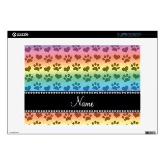 Corazones del arco iris e impresiones conocidos skins para 33cm portátil