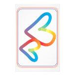 Corazones del arco iris junto para siempre  papeleria de diseño