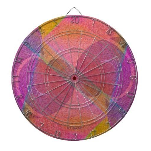 Corazones del arco iris tablero de dardos