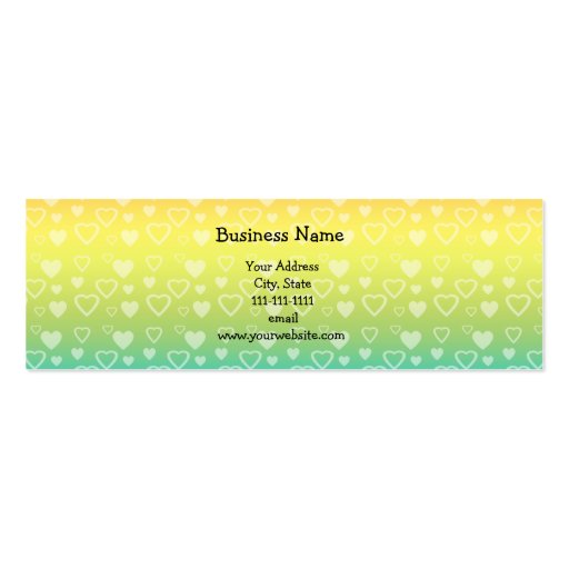 Corazones del arco iris tarjetas de visita mini