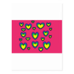 corazones del arco iris tarjetas postales