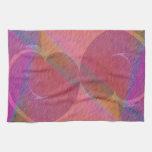 Corazones del arco iris toalla de mano