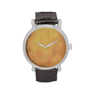 corazones del bokeh 04, (i) de oro reloj de mano