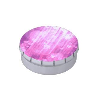 corazones del bokeh 04, (i) rosado latas de dulces