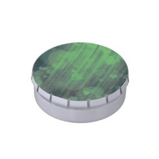 corazones del bokeh 04, (i) verde frascos de caramelos