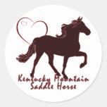 Corazones del caballo de silla de montar de la etiquetas redondas