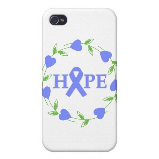 Corazones del cáncer de estómago de la esperanza iPhone 4 funda