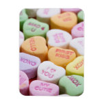 Corazones del caramelo de la conversación iman
