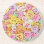 Corazones del caramelo de la tarjeta del día de Sa Posavasos Manualidades