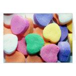 Corazones del caramelo del día de San Valentín Felicitacion