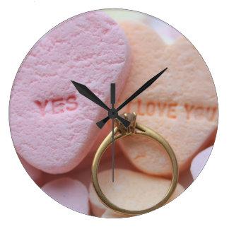 Corazones del caramelo del reloj del anillo de com