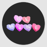 Corazones del caramelo pegatina redonda