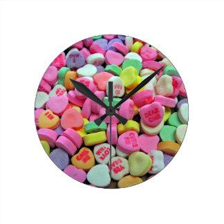 Corazones del caramelo relojes