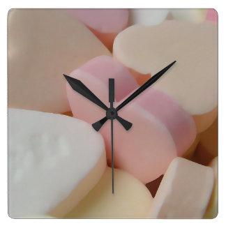 Corazones del caramelo reloj