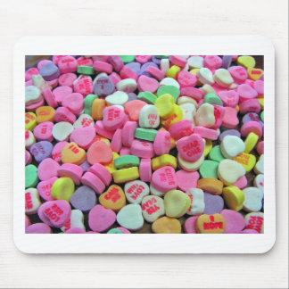 Corazones del caramelo alfombrilla de ratón