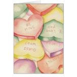 Corazones del caramelo - tarjeta de felicitación