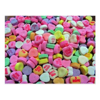 Corazones del caramelo tarjetas postales