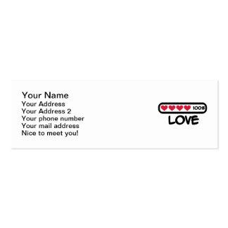 Corazones del cargamento del amor plantillas de tarjetas de visita
