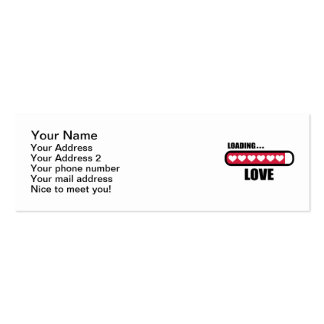 Corazones del cargamento del amor tarjeta de visita