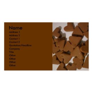 Corazones del chocolate tarjetas de visita