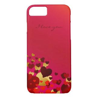 corazones del día de San Valentín con la Funda iPhone 7