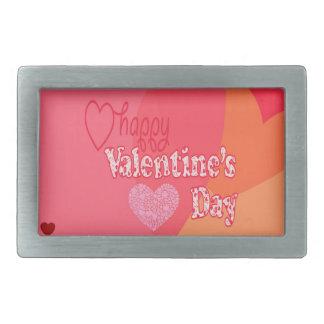 Corazones del día de San Valentín Hebilla De Cinturón Rectangular