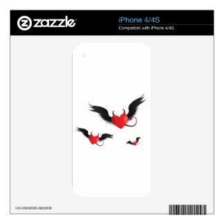 Corazones del diablo iPhone 4S skin