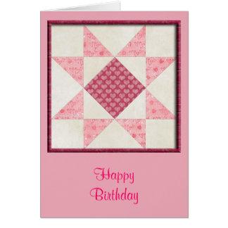 Corazones del edredón del amor tarjeta de felicitación