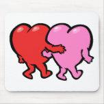 Corazones del el día de San Valentín Alfombrilla De Ratón