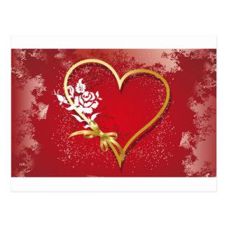 corazones del el día de San Valentín Tarjeta Postal
