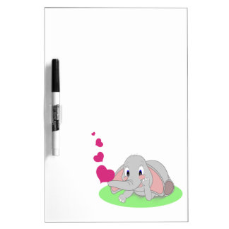 Corazones del elefante pizarras blancas de calidad