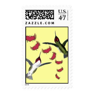 Corazones del Grunge de los pájaros del tarareo Sellos