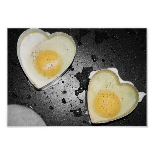 Corazones del huevo impresiones
