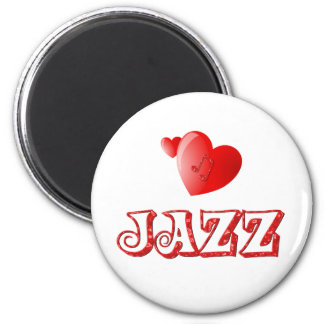 Corazones del jazz iman de frigorífico