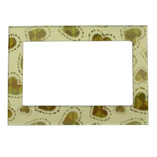 Corazones del mosaico marcos magnéticos de fotos