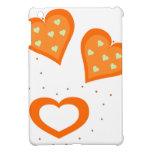 Corazones del naranja del día de San Valentín iPad Mini Carcasas