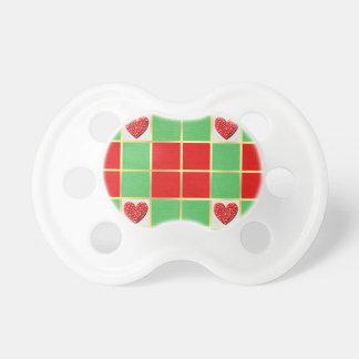 Corazones del navidad chupetes para bebés