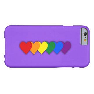 Corazones del orgullo de LGBT Funda Para iPhone 6 Barely There