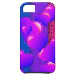 Corazones del orgullo del BI iPhone 5 Case-Mate Cárcasa