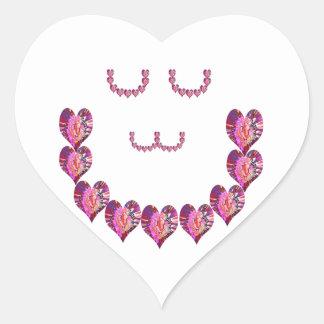 Corazones del pétalo de RedRose Pegatina En Forma De Corazón