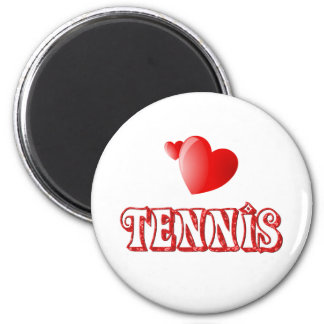 Corazones del tenis iman de nevera