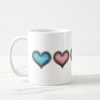 Corazones del transexual taza de café