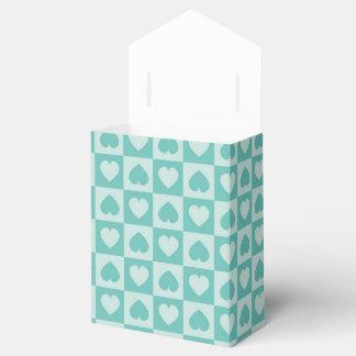 Corazones del trullo y del trullo de la luz cajas para detalles de boda