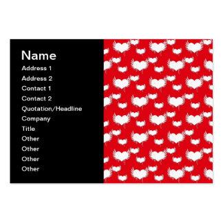 Corazones del vuelo rojos y el modelo de la tarjet tarjetas de visita