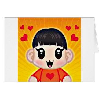 corazones del yourri tarjeta de felicitación
