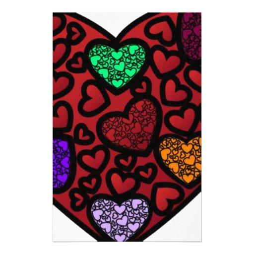 corazones dentro de un corazón  papeleria de diseño