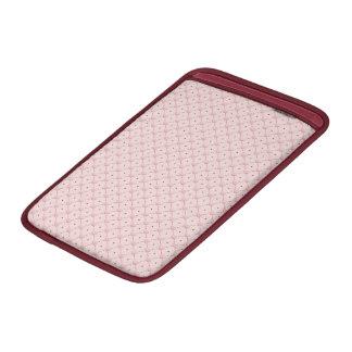corazones diagonales del caramelo del rosa del fundas macbook air