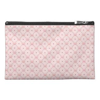 Corazones diagonales rosados del caramelo del rosa