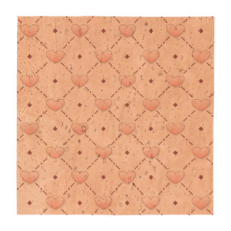 Corazones diagonales rosados del caramelo del rosa posavasos